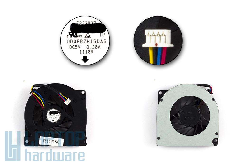 Asus A72, K52, K72 gyári új laptop hűtő ventilátor (UDQFRZH15DAS)