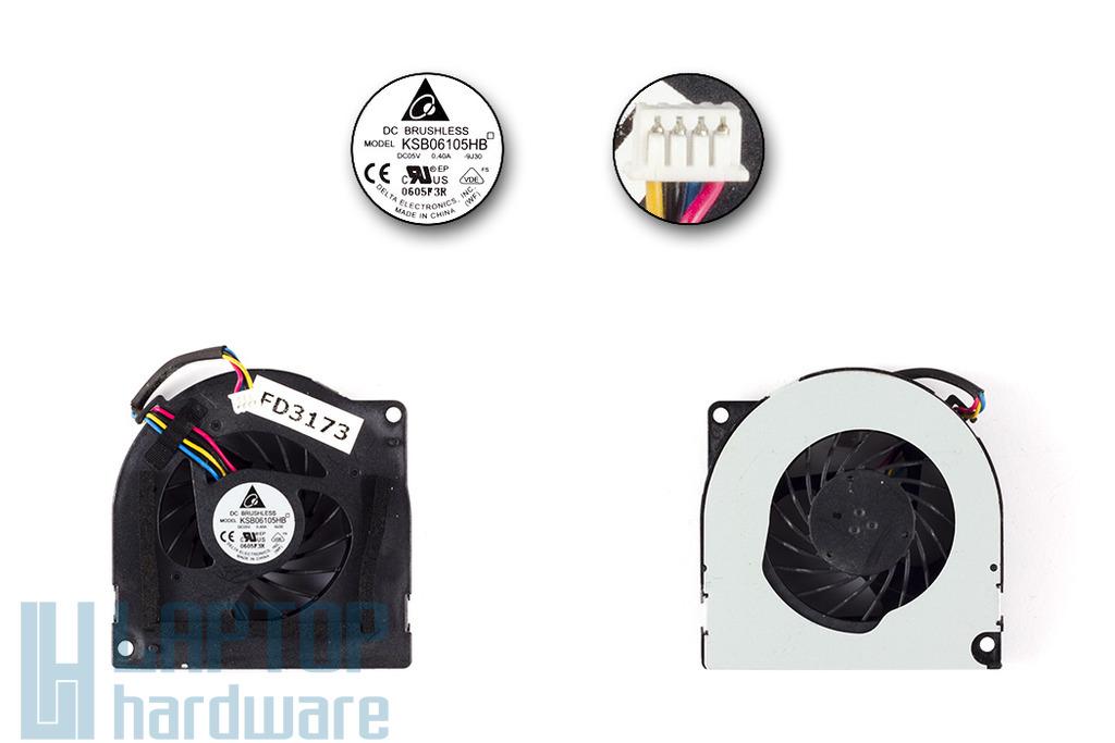 Asus A72F, K52JR gyári új laptop hűtő ventilátor (KSB06105HB)