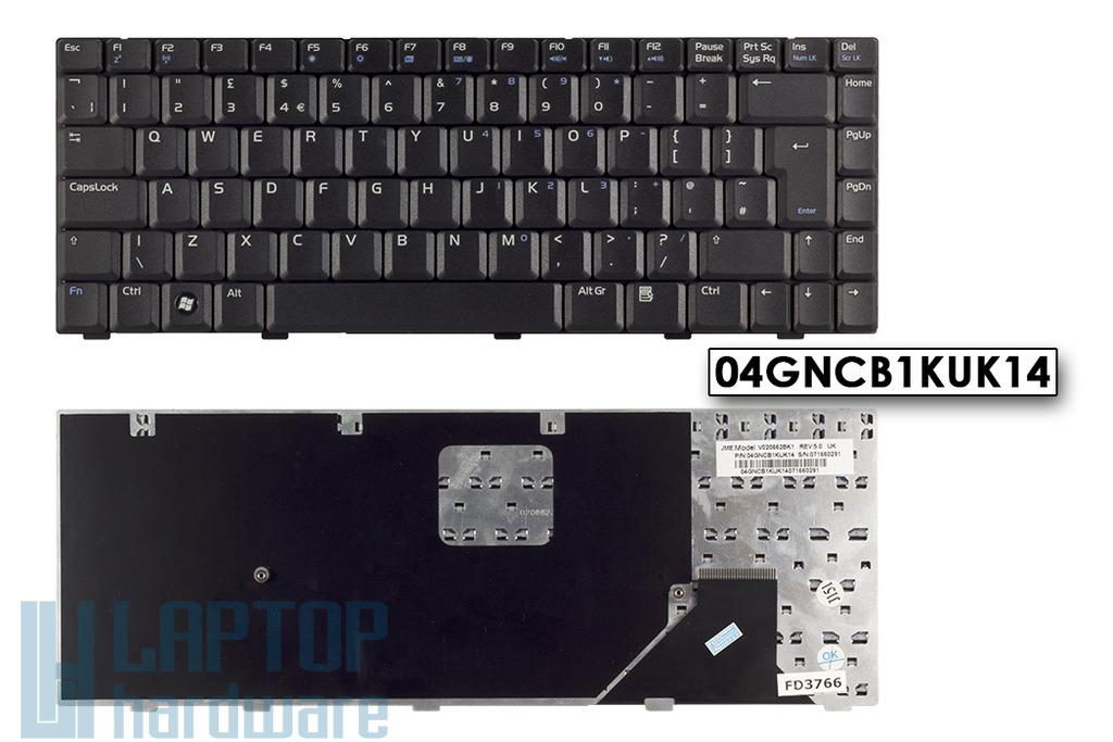 Asus A8, A8F, W3, W3000 gyári új UK angol laptop billentyűzet, 04GNCB1KUK14