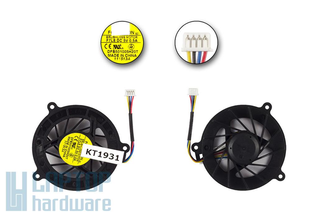 Asus A8, F3, Z53, Z99 gyári új laptop hűtő ventilátor, 4 pines, (DFB501005H20T)