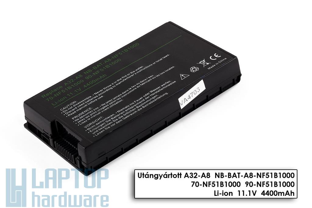 Asus A8, F8, X80, A32-A8  helyettesítő új 6 cellás laptop akkumulátor