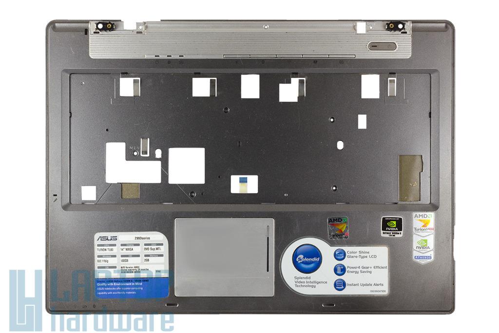 Asus A8JR, Z99D laptophoz használt felső fedél touchpaddel, 13GNNW2AP023-4