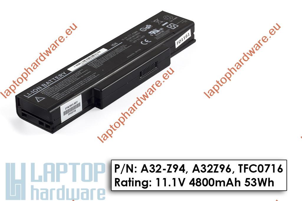 Asus A9, Z94, MSI GX720 6 cellás használt 95%-os gyári laptop akkumulátor, A32-Z94, BTY-M66