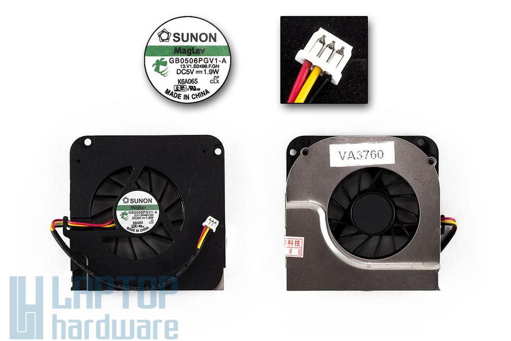 Asus A9RP gyári új laptop hűtő ventilátor (GB0506PGV1-A)