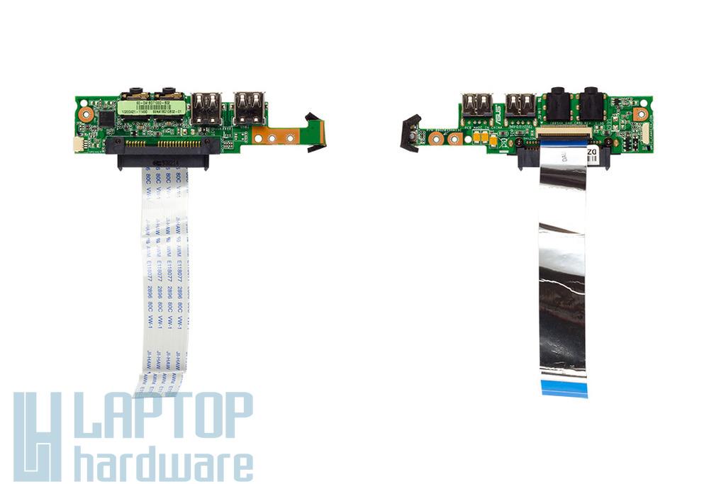 Asus Eee Pc 1001HA, 1005HA használt laptop I/O, (USB, Audió és bekapcsoló) panel, 08G2035HA13C