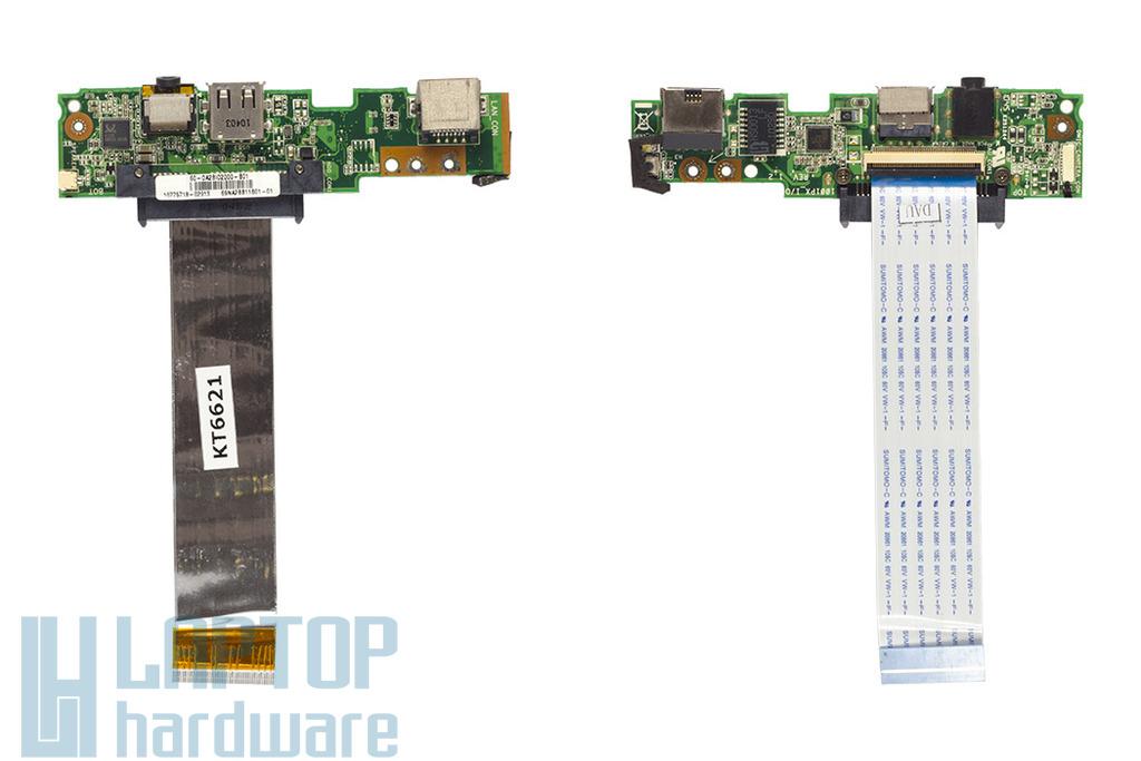 Asus Eee Pc 1001px használt laptop I/O, (LAN, USB, Audió és bekapcsoló) panel, 60-0A2BIO2000-B01