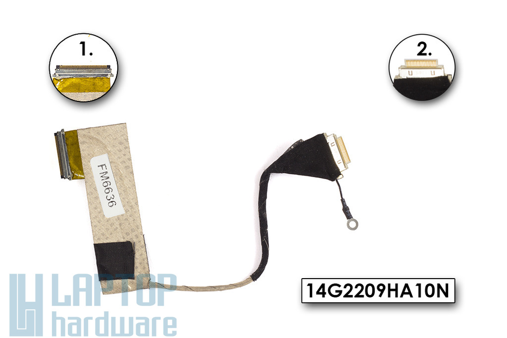 Asus EEE Pc 904HD netbookhoz használt LCD kábel (14G2209HA10N), (14G2209HA10Q)