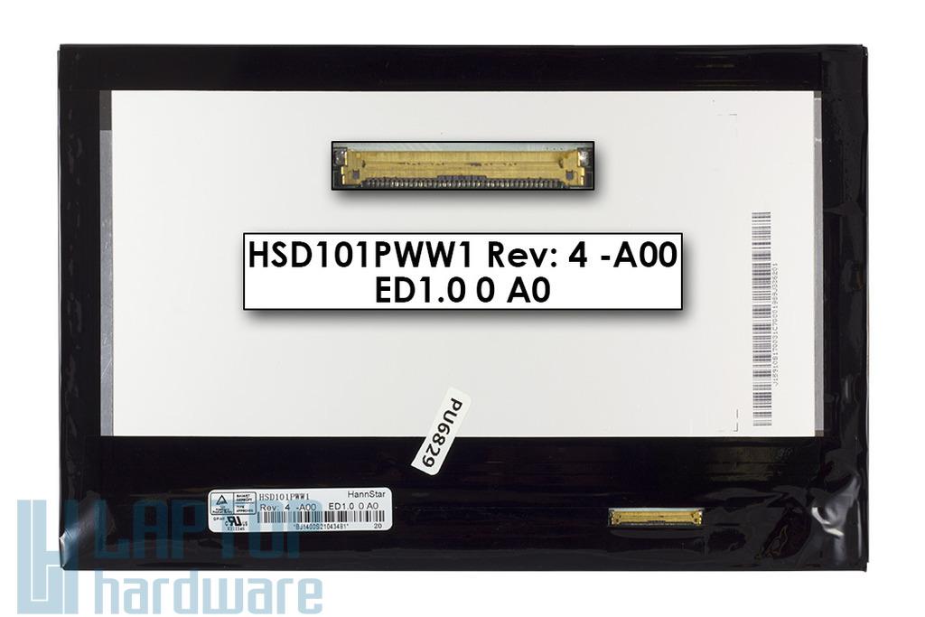 Gyári új matt 10.1'' (1280x800) LED laptop/tablet Slim kijelző (csatlakozó: 40 pin - jobb)