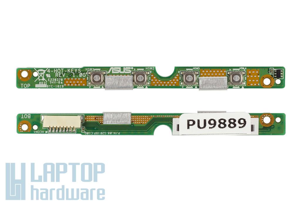 Asus EEEPC 1000HE, 1000HD laptophoz gyári új gyorsgomb panel, 08G2019PC10Q