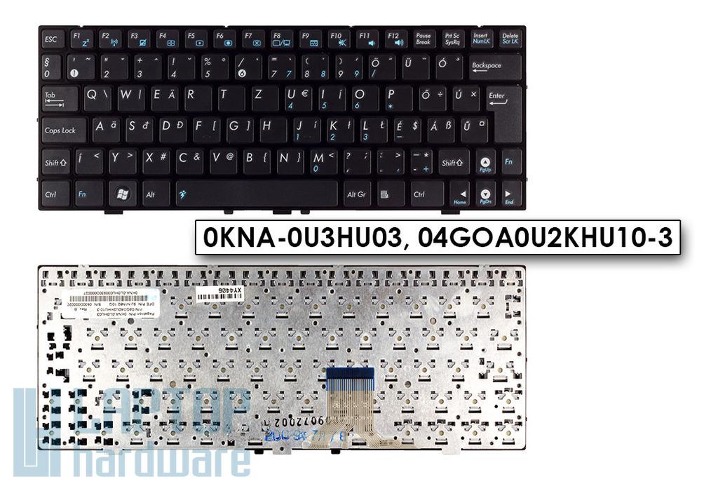 Asus EEEPC 1000HE gyári új fekete magyar laptop billentyűzet, 04GOA0U2KHU10-3