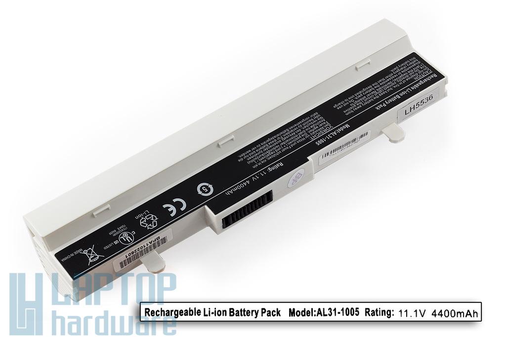 Asus EEEPC 1001, 1005, 1100 fehér 6 cellás helyettesítő új laptop akku/akkumulátor  AL31-1005
