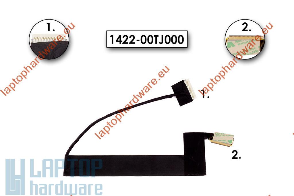 Asus EEEPC 1001PX, R101 használt laptop LCD kábel (40 pin), 1422-00U000