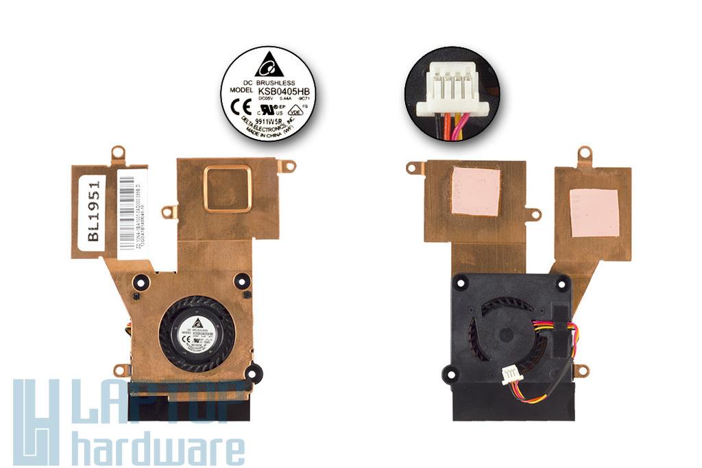 Asus EEEPC 1001PX,1005HA,1005P 1008HA használt laptop hűtő ventilátor (13GOA1B1AM040-10)