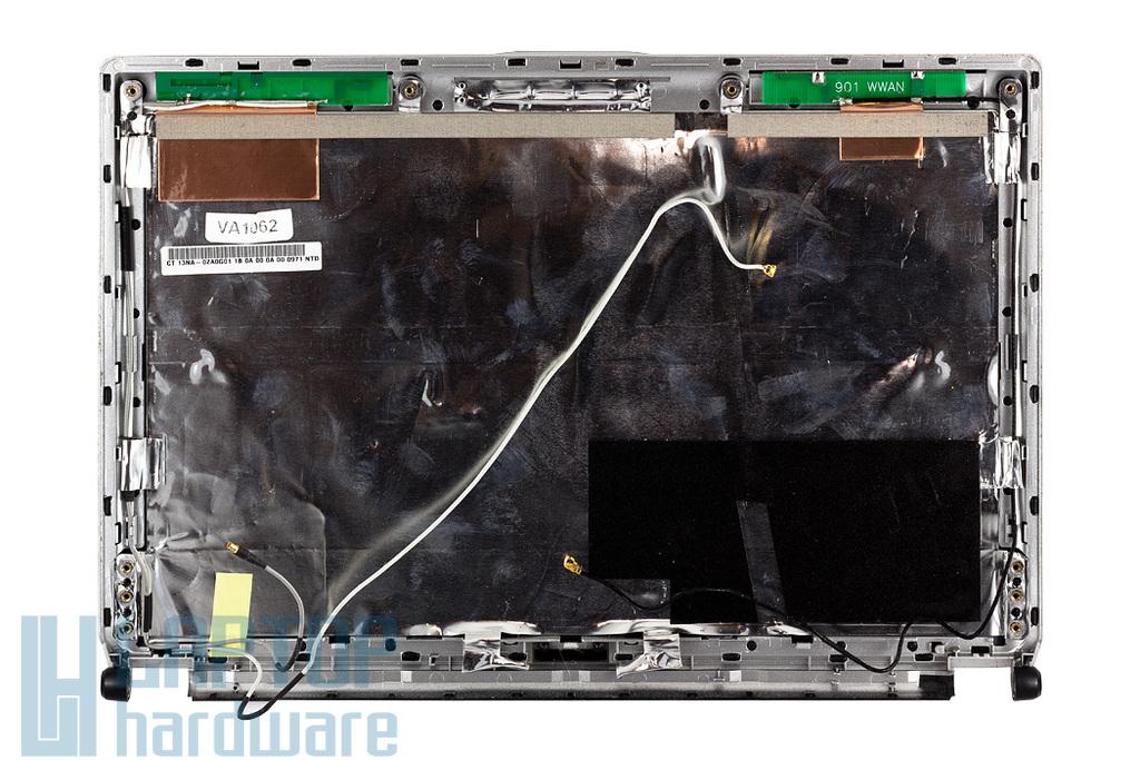 Asus EEEPC 1002H, 1003HAG használt fekete LCD hátlap WIFI antennával, black LCD back cover with WLAN antenna (13NA-0ZA0G01)