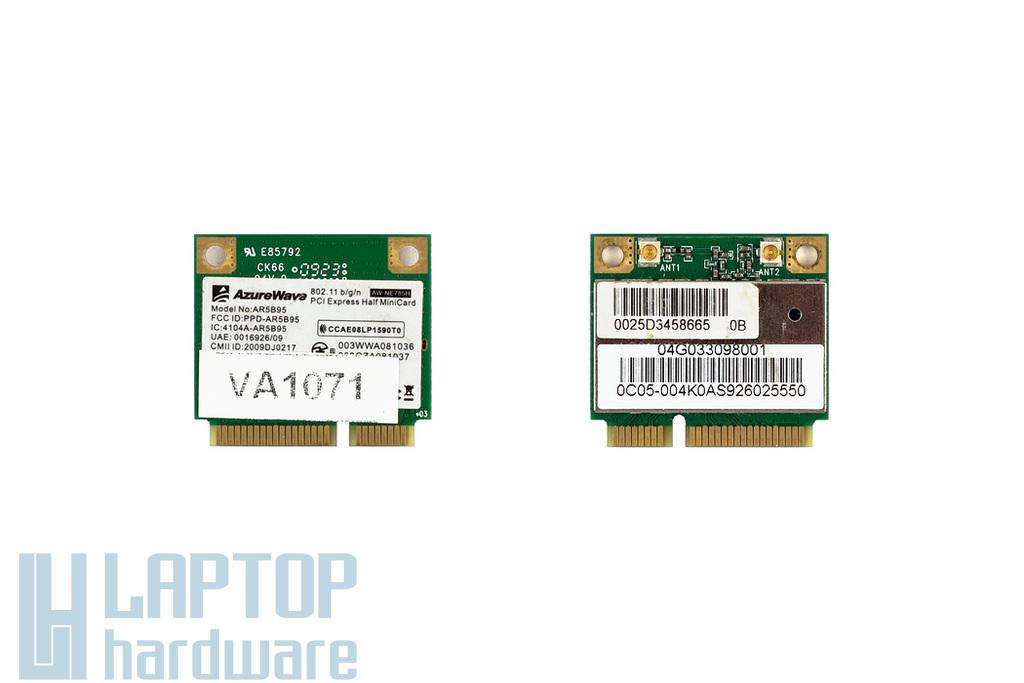 AzureWave AR5B95 használt Mini PCI-e (half) WiFi kártya Asus laptophoz (04G033098001)