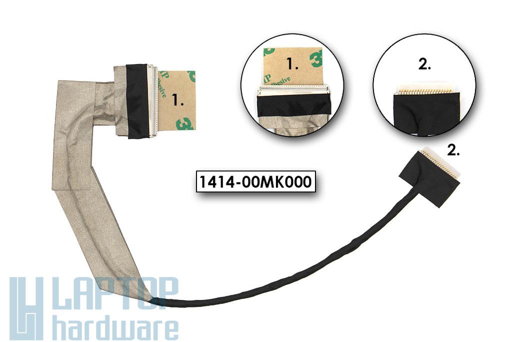 Asus EEEPC 1005, 1005HA gyári új LCD kijelző kábel (30 pin) (1422-00MK000, 1414-00MK000)