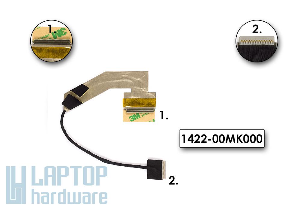 Asus EEEPC 1005, 1005HA használt LCD kijelző kábel (30 pin), 1422-00MK000