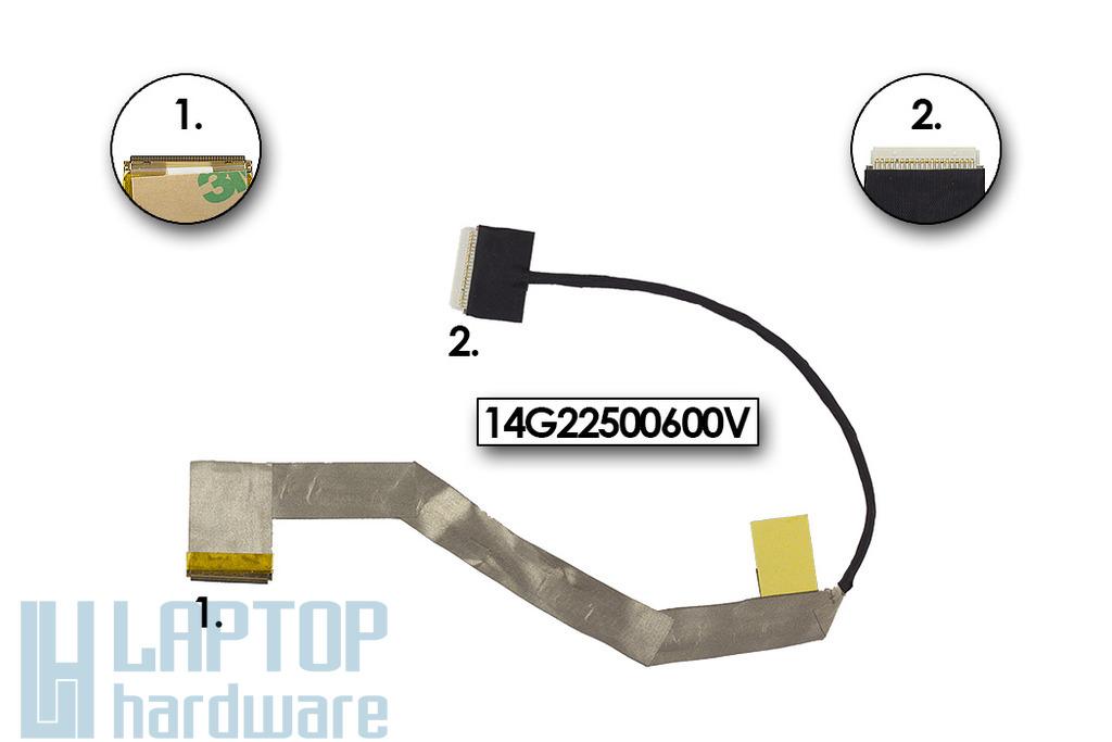 Asus EEEPC 1011PX, 1015PX, 1015BX gyári új LCD kijelző kábel, 14G22500600V