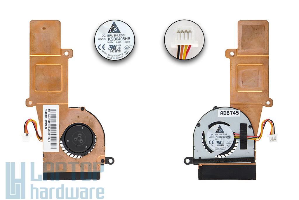 Asus EEEPC 1015PED, 1015PEM használt laptop komplett hűtő ventilátor egység (13GOA291AM010-10, 13NA-29A0101)