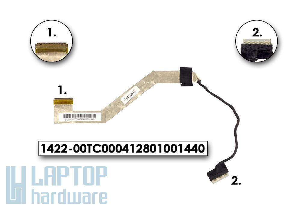 Asus EEEPc 1015PX netbookhoz használt LCD kábel (1422-00TC000412801001440)