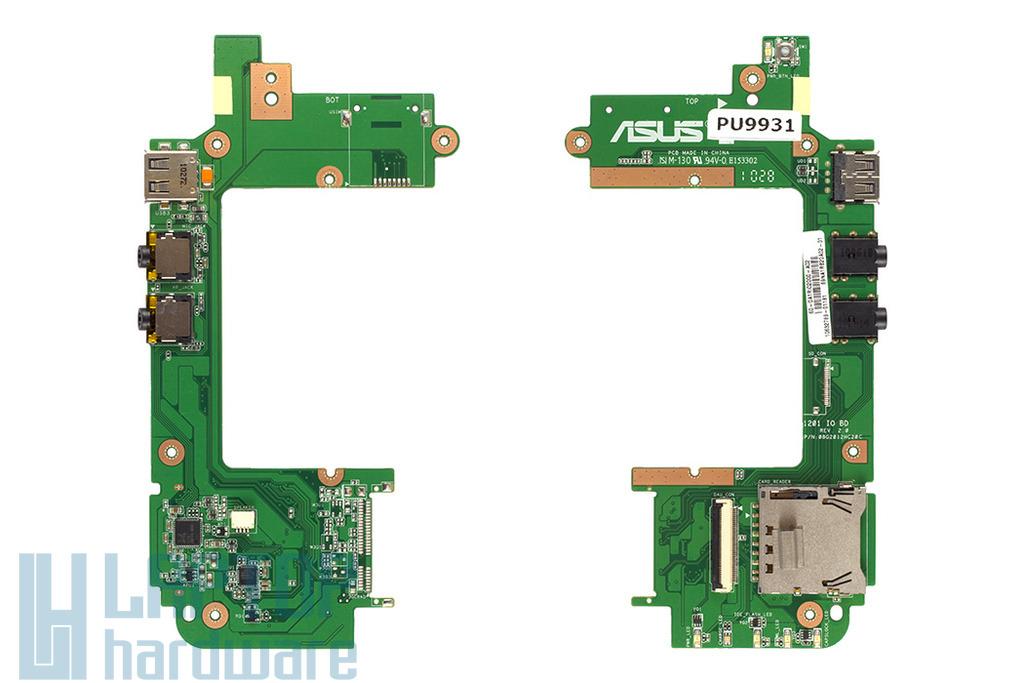 Asus EEEPC 1201HA, 1201HAB laptophoz gyári új bekapcsoló/USB panel (USB, Audio, Card reader), 60-OA1RIO2000-A02