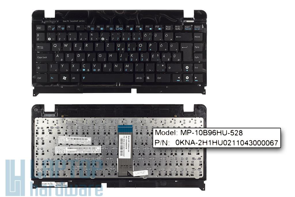 Asus EEEPC Seashell 1215N, 1215P, 1215T gyári új fekete magyar laptop billentyűzet, 90R-OA2H1K1C00Q
