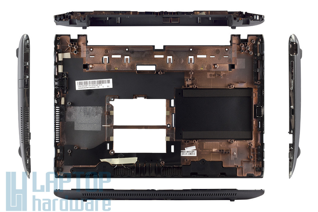 Asus EEEPC 1225B, R252B gyári új szürke laptop alsó fedél hangszórókkal (13GOA3M1AP021-10)