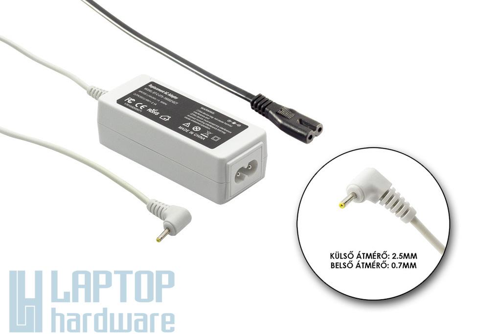 Asus EEEPC 19V 2.1A 40W helyettesítő új fehér laptop töltő (ADP-40PH AB, EXA0901XH)