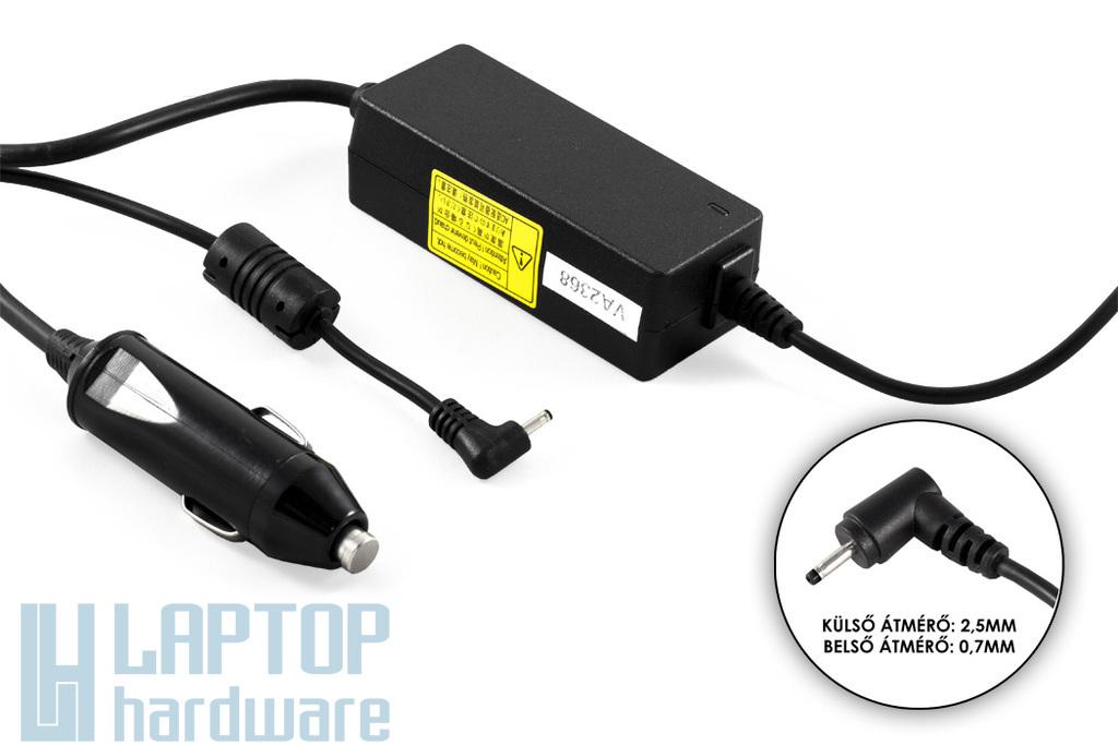 Asus EEEPC 19V 2.1A 40W helyettesítő új autós laptop töltő (E40W-01 CAR_CHARGER)