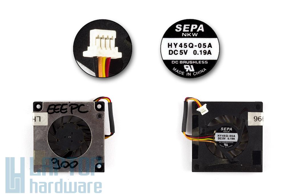 Asus EEEPC 700, 701, 900, 901, 1000 használt laptop hűtő ventilátor (HY45Q-05A)