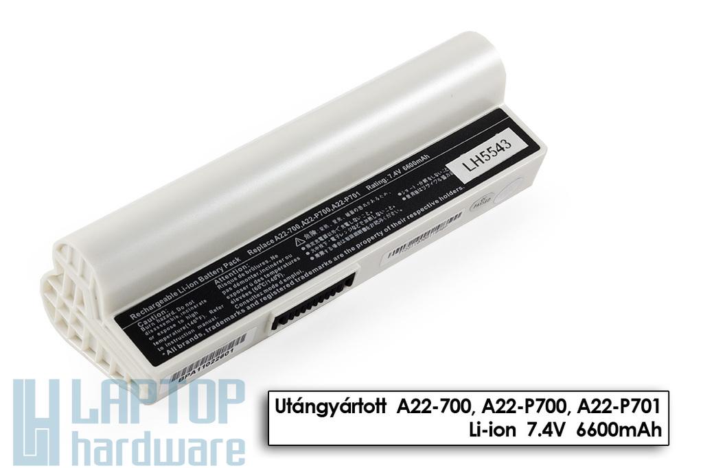 Asus EEEPC 700, 701, 900, A22-700 fehér 6 cellás helyettesítő új laptop akkumulátor