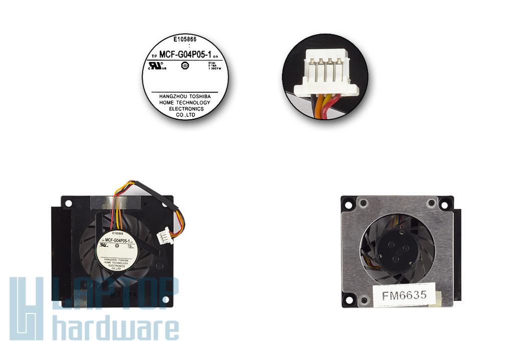 Asus EEEPC 700, 701, 900 netbookhoz használt hűtő ventilátor (MCF-G04P05-1)