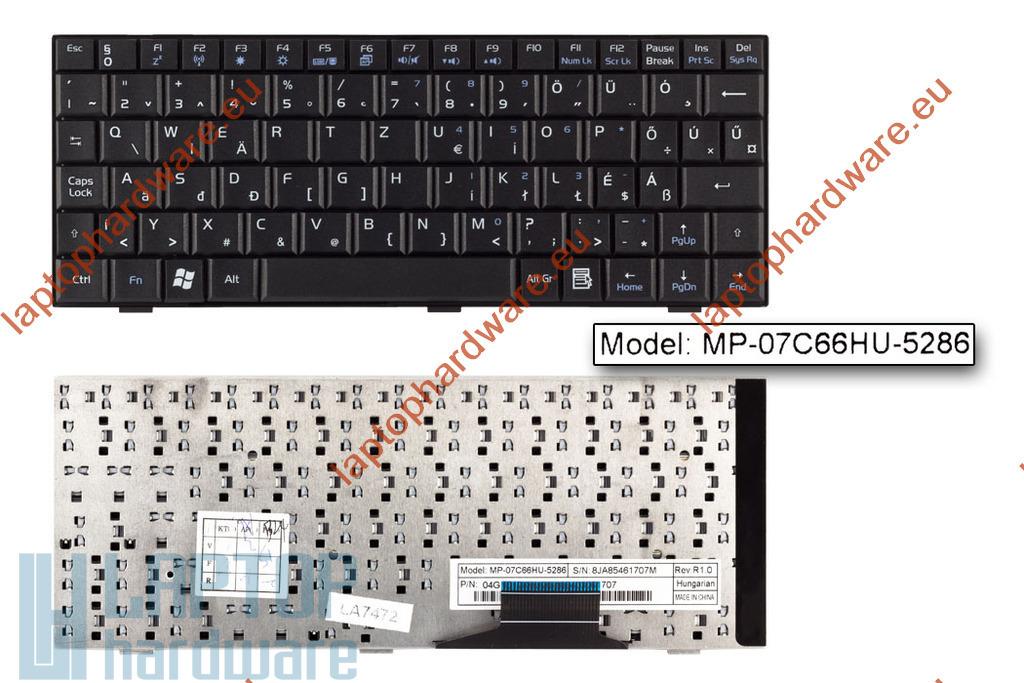 Asus EEEPC 700, 900 használt magyar fekete laptop billentyűzet (MP-07C66HU-5283)