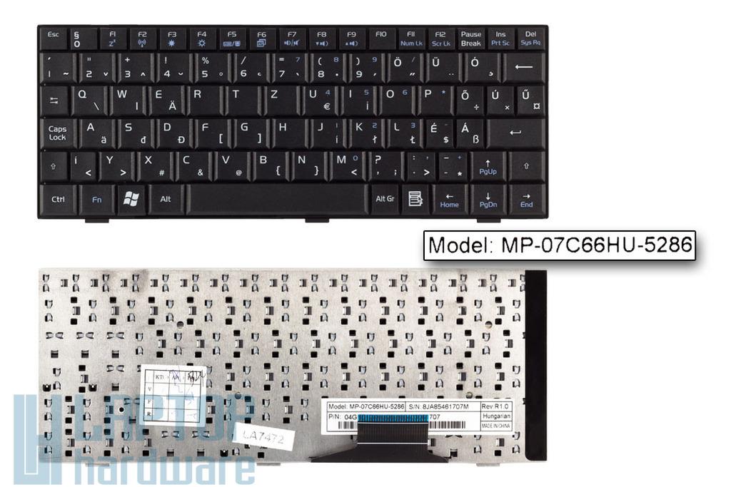 Asus EEEPC 700, 900 gyári új magyar fekete laptop billentyűzet (MP-07C66HU-5283)