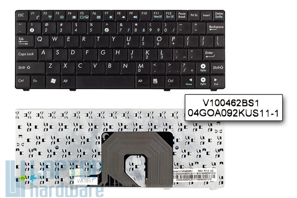 Asus EEEPC 900HA gyári új fekete US angol netbook billentyűzet (V100462BS1)