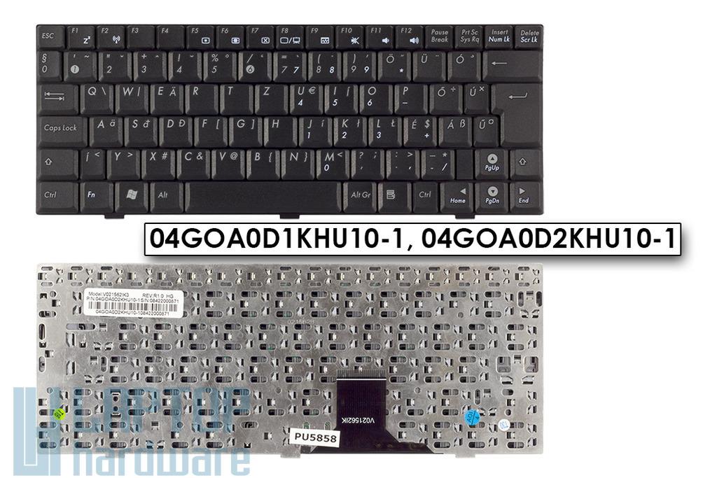 Asus EEEPC 904HD, 1000, S101 gyári új fekete magyar laptop billentyűzet, 04GOA0D1KHU10-1, 04GOA0D2KHU10-1