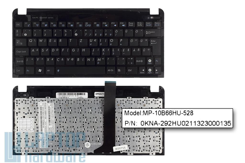 Asus EEEPC Seashell 1011PX, 1015BX, R011PX gyári új magyar fekete laptop billentyűzet (90R-OA3D2K1B00Q)