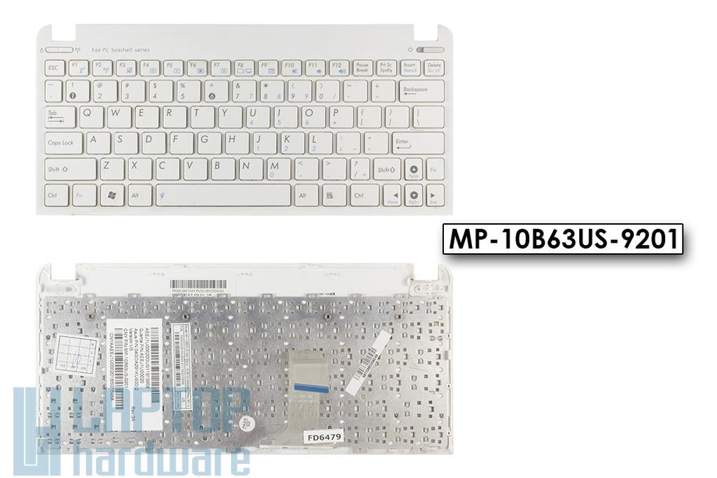 Asus EEEPC Seashell 1011PX, 1015BX, R011PX használt US fehér laptop billentyűzet WiFi kapcsolóval (MP-10B63US-9201)