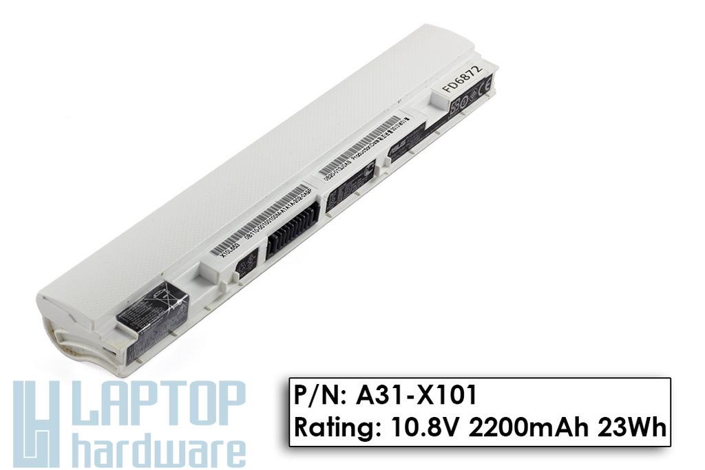 Asus EEEPC X101 85%-os használt fehér laptop akku/akkumulátor  A31-X101