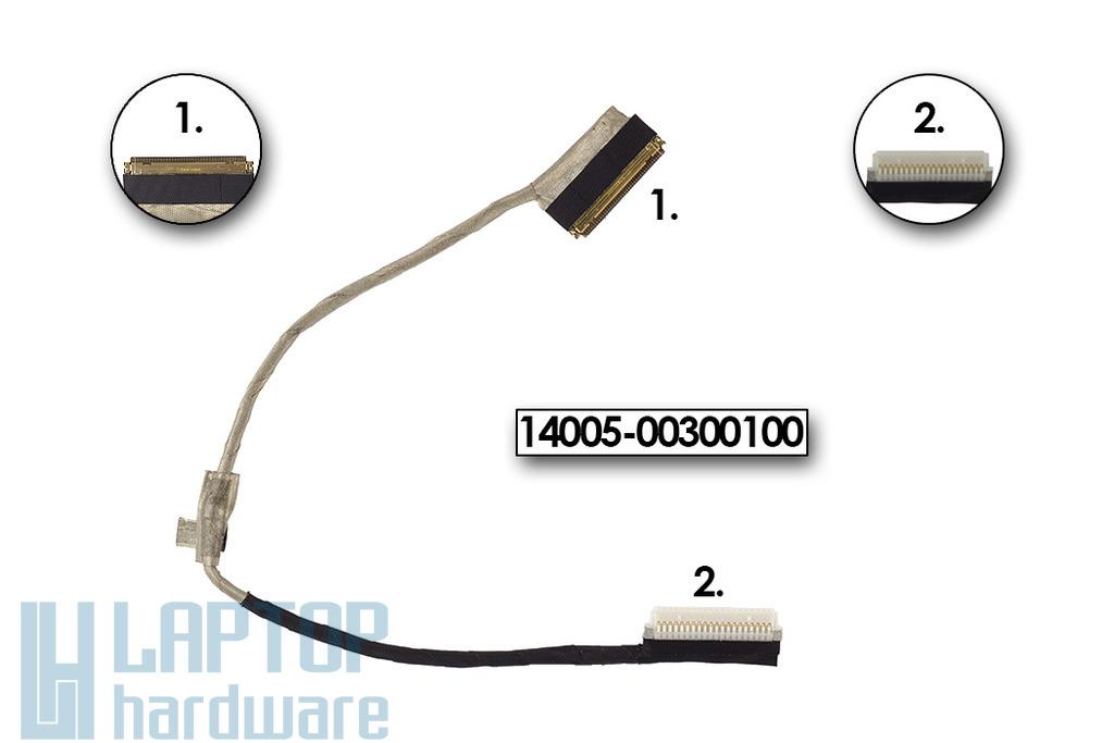 Asus EEEPC X101CH netbookhoz használt LCD kábel, 14005-00300100