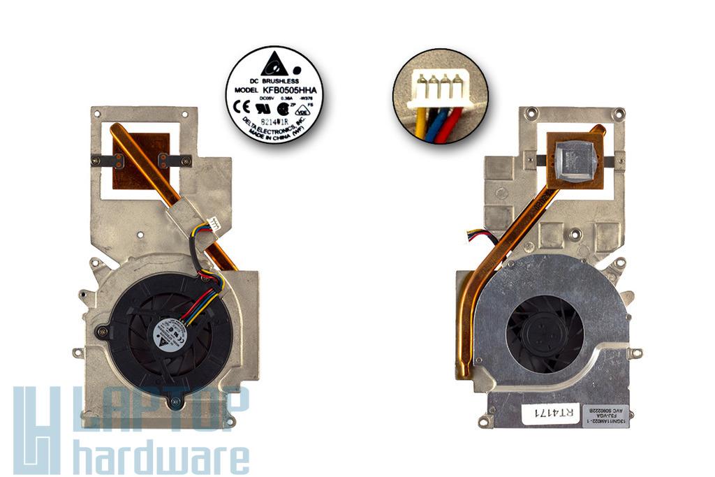 Asus F3, M51 laptophoz használt komplett hűtőegység (13GNI11AM022-1)