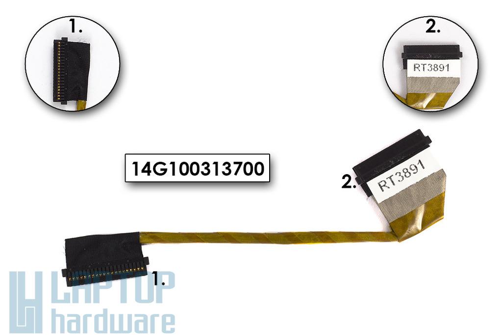 Asus F3, M51 sorozatú laptophoz gyári új LCD inverter kábel, 14G100313700