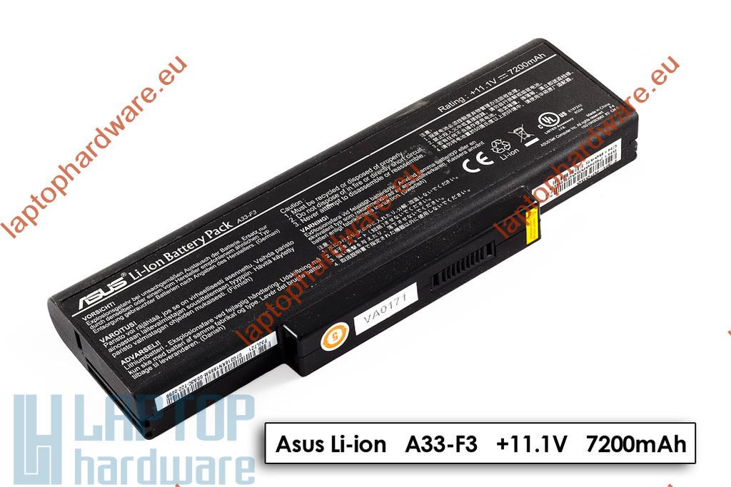 Asus F3, X52, X53 használt gyári 60%-os 9 cellás laptop akku/akkumulátor (A32-F3)