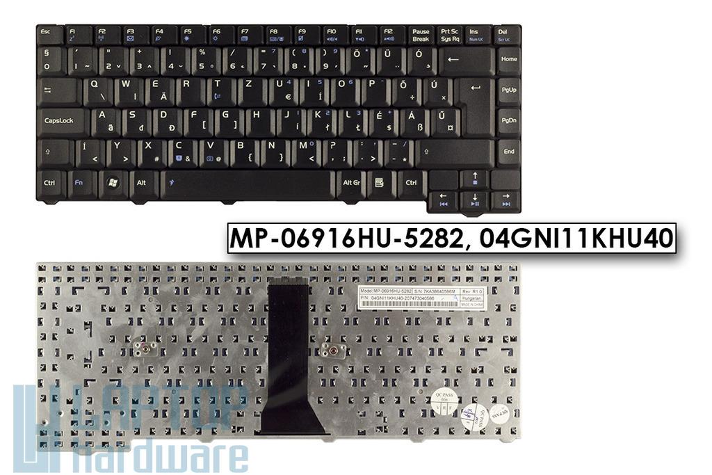 Asus F3E, F3SE, F3KE gyári új magyar laptop billentyűzet, 24 pin, (MP-06916HU-5282)
