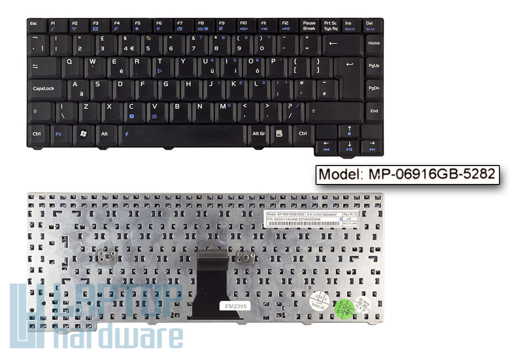 Asus F3F, F3Jc, F3Jm, F3M használt UK angol laptop billentyűzet (MP-06916GB-5282)