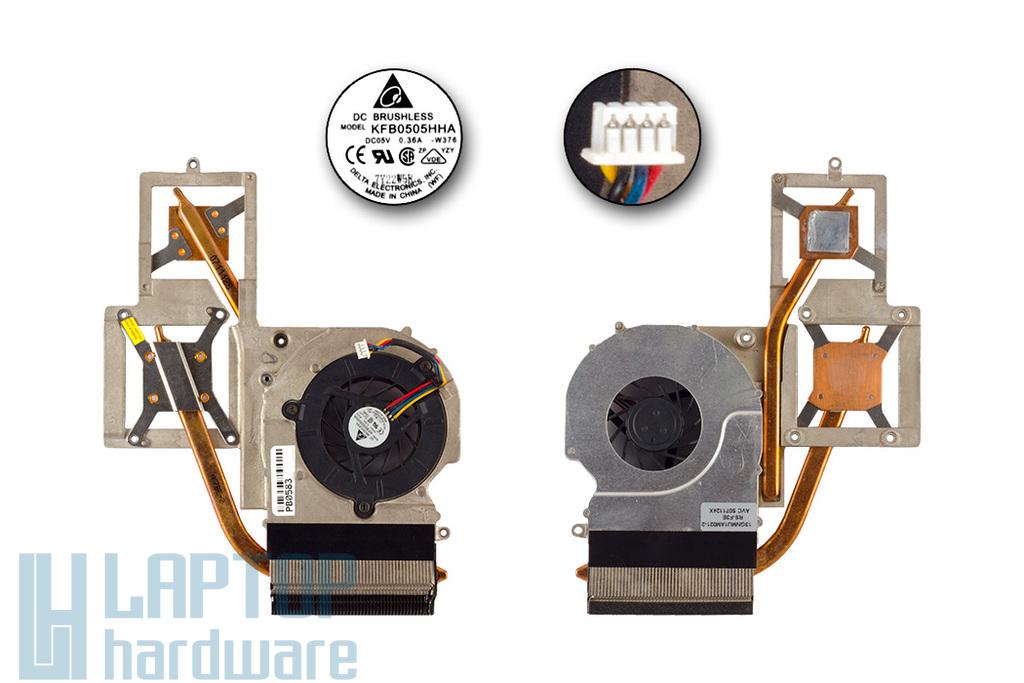 Asus F3Q, F7E, M51A laptophoz használt komplett hűtőegység (13GNMU1AM021-2)