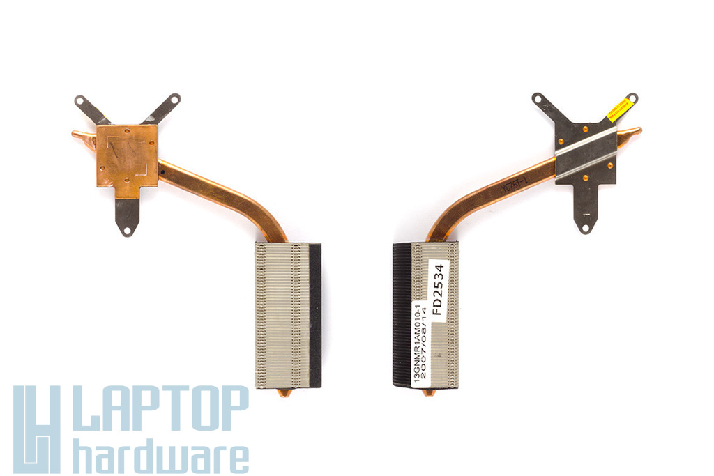 Asus F3S, F3SR, M51S laptophoz használt processzor hőelvezető cső (13GNMR1AM010-1, 13GNMR1AM010-2)