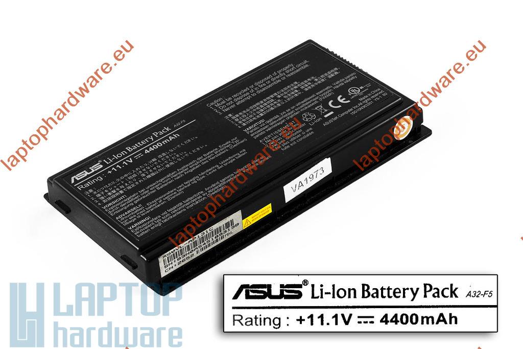 Asus F5, X50, X58, X59 használt 6 cellás, 50%-os gyári laptop akku/akkumulátor (A32-F5)
