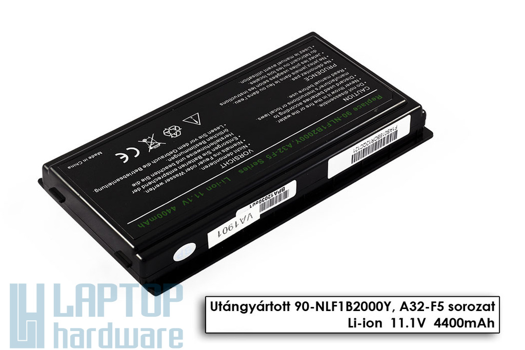 Asus F5, X50, X59 6 cellás helyettesítő új laptop akku/akkumulátor (A32-F5)