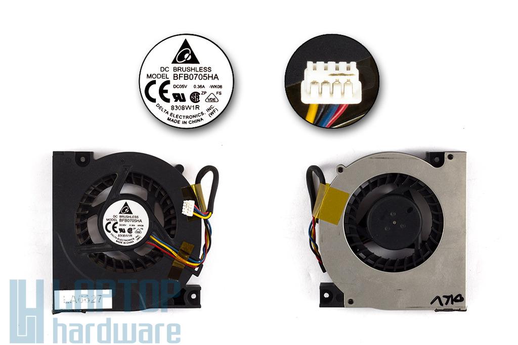 Asus F5, X50V, X50VL használt laptop hűtő ventilátor (BFB0705HA)